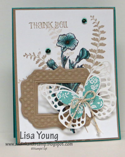 Stampin' Up! Butterfly Basics stamp set and Fun Frames embossing folder.