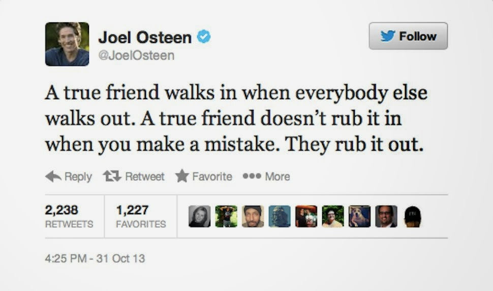Joel Osteen's controversial 'Rub It Out' tweet