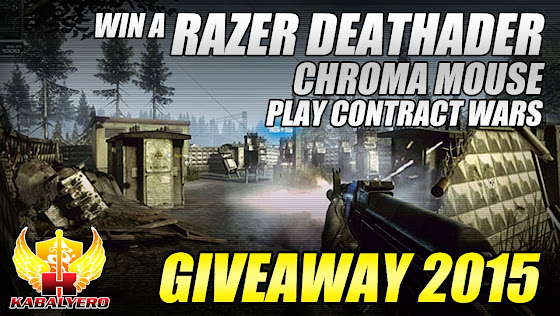 Giveaway 2015, Win A Razer Deathadder Chroma Mouse, Play Contract Wars