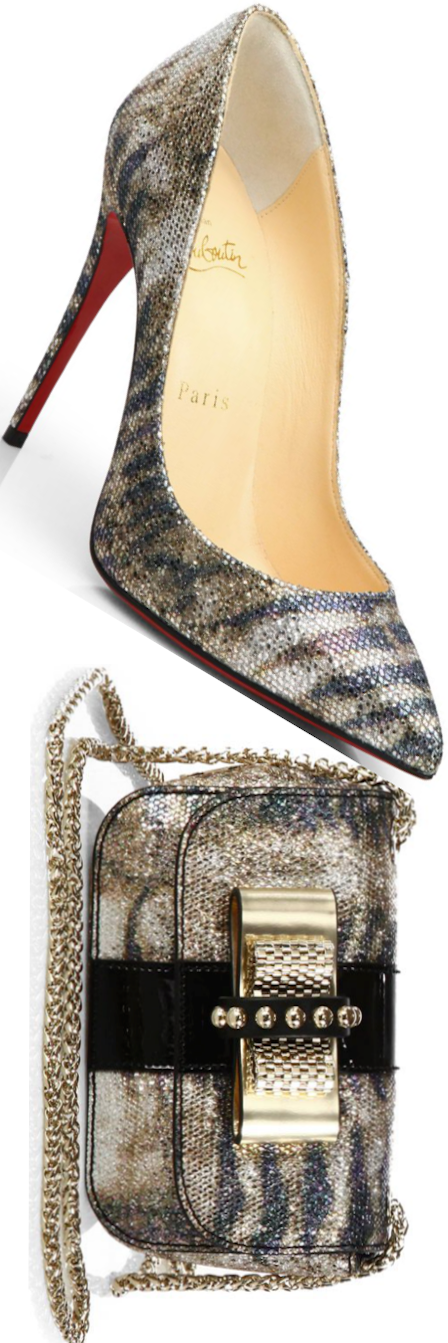 Christian Louboutin Pigalle Follies Pump and Sweet Charity Bag