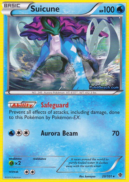 Suicune -- Plasma Blast Pokemon Card Review | Primetime ...