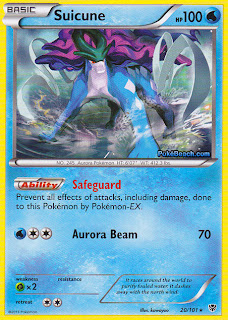 Suicune Plasma Blast Pokemon Card