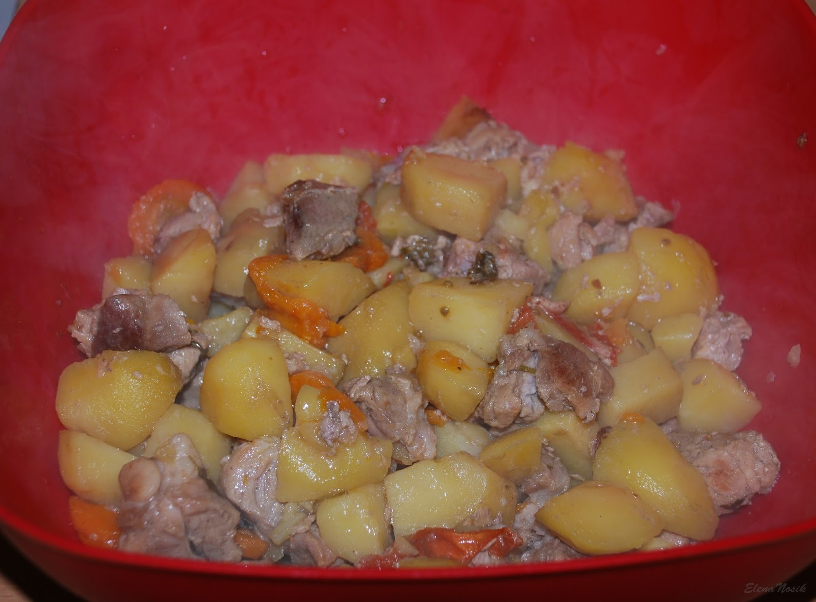 Говяжий язык с картошкой в духовке рецепт пошагово