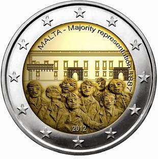 2 euro Malta 2012, Majority representation 1887