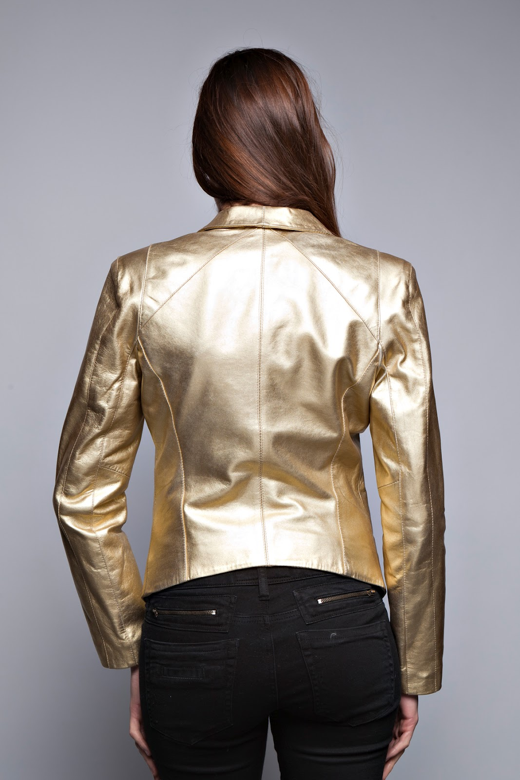 Veste beige doree femme