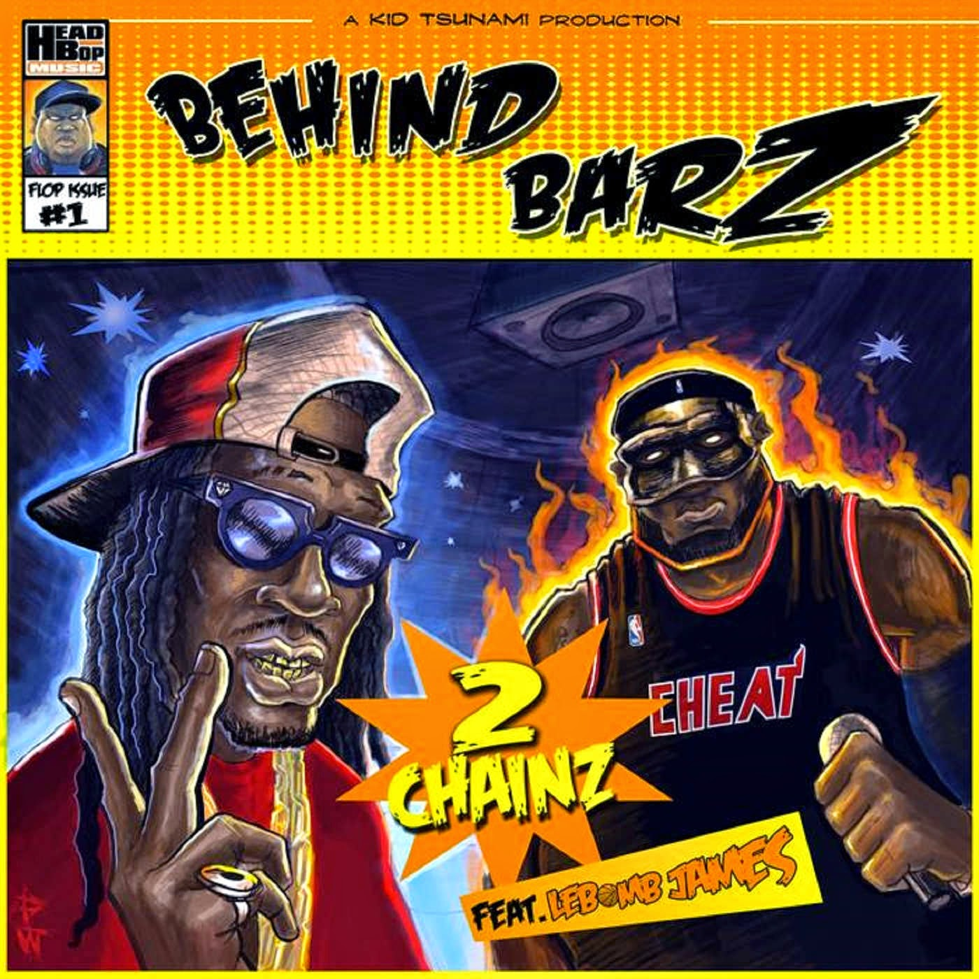 Kid Tsunami - Behind Barz (feat. 2 Chainz & Lebomb James) - EP Single Cover