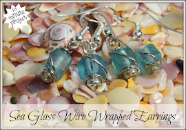 Sea Glass Wire Wrapped Earrings