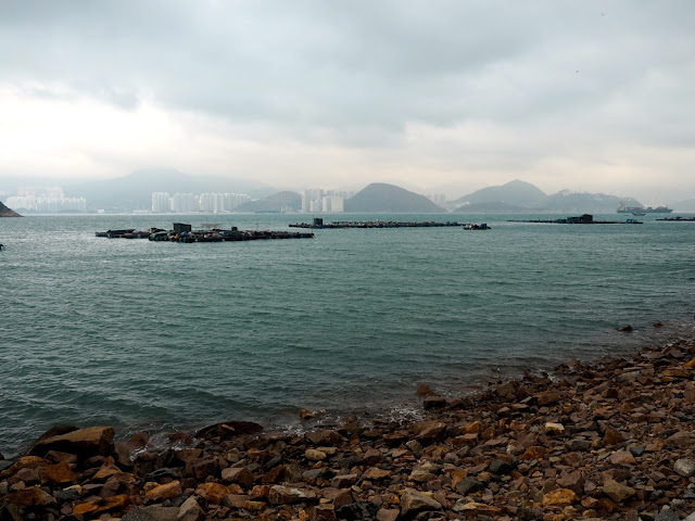 View out to sea, with Aberdeen on Hong Kong island in the distance, from near Sok Kwu Wan, Lamma Island, Hong Kong