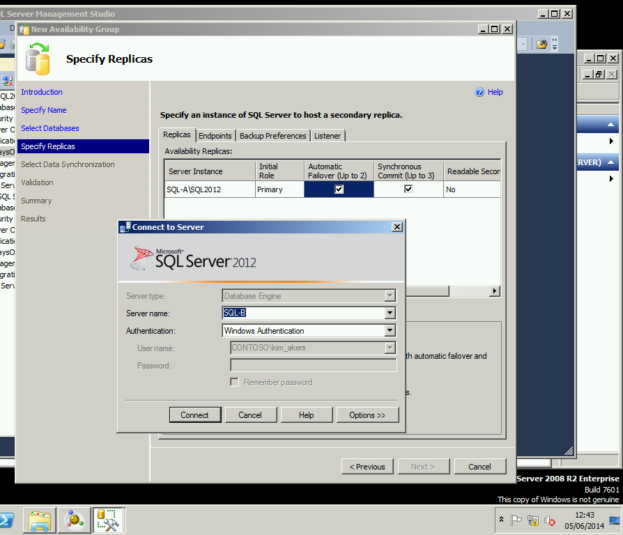 sql server always on Each participating sql server instance hosts a so-called replica there is always one primary replica and up to four secondary replicas up to 2 of these secondary replicas can use synchronous commit, and the other 2 secondary replicas can use asynchronous commit.
