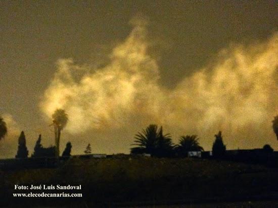 incendio dos arboles cementerio san lazaro las palmas