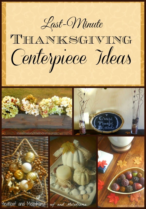 collage of easy thanksgiving centerpiece ideas
