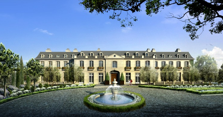 eileen 39 s home design 60 000 square foot chateau des fleurs in bel air ca. Black Bedroom Furniture Sets. Home Design Ideas