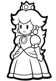 Coloring Pages Princess Peach Game