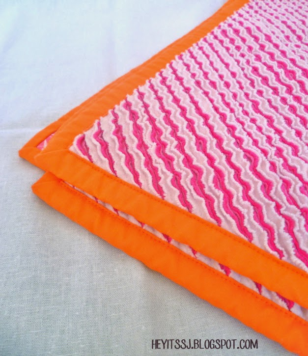 Close up of back of Faux Chenille Baby Blanket