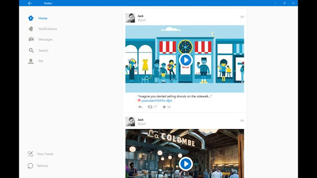 twitter windows10-timeline view
