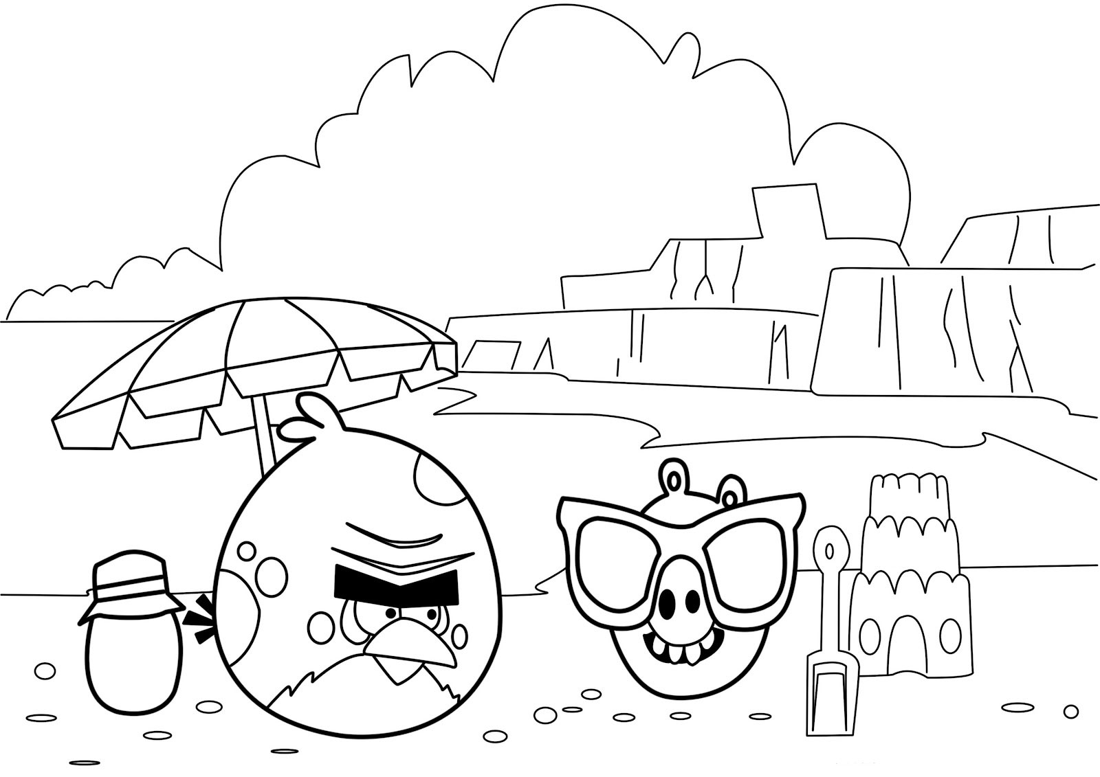 Coloring pages printable angry birds