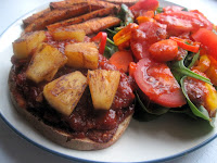 Open-Faced Pineapple BBQ Tempeh Sandwiches
