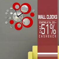 Buy Opal Wall Clocks Extra 51% Cashback :Buytoearn