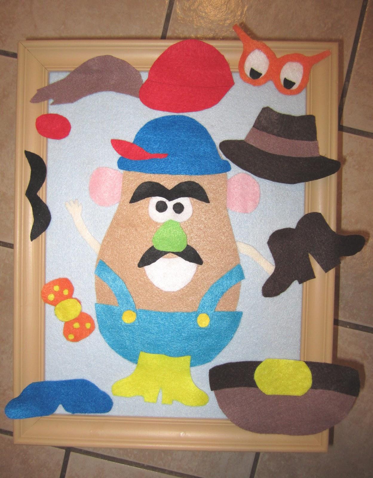 Making fun potato head on felt for Mr potato head felt template