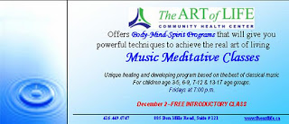 Music meditative classes at the Art of Life Community Health Centre, Toronto