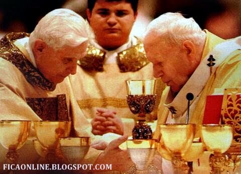 O PAPA BENTO XVI E O SAUDOSO JOO PAULO II AMIGOS INSEPARVEIS - SANTOS HOMENS!