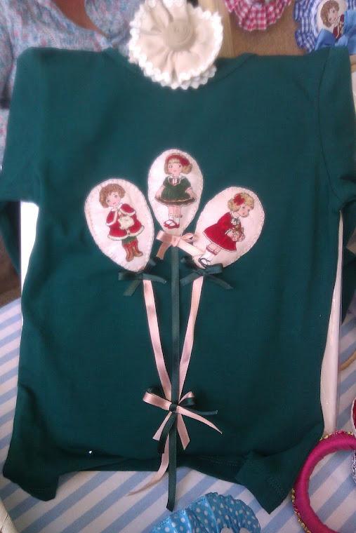 camiseta globos con muñecas