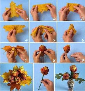 Aprende a Hacer Flores con Hojas Secas