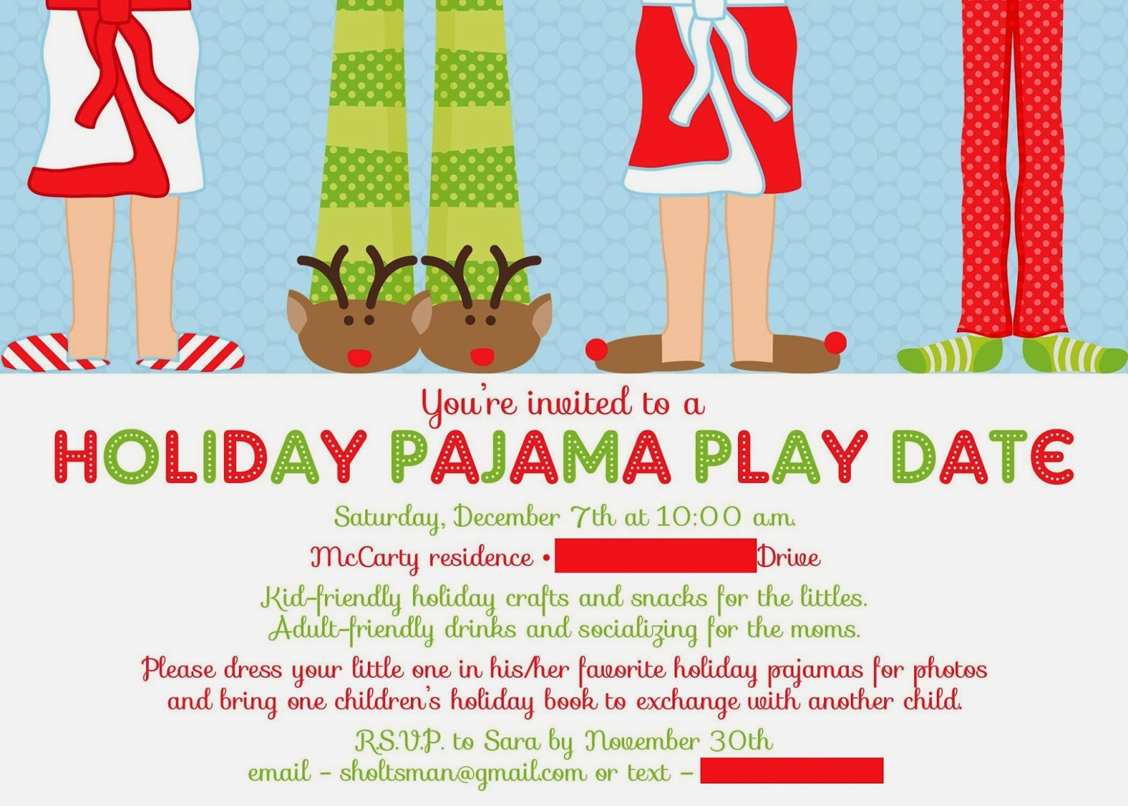 Christmas Pj Party Invitation with great invitations sample