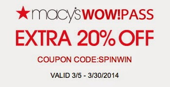 Macy's Wow Pass In Store Coupon
