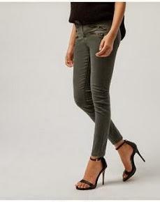 Skinny khaki jeans
