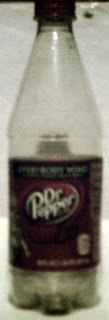 Right side of Dr Pepper Thor bottle