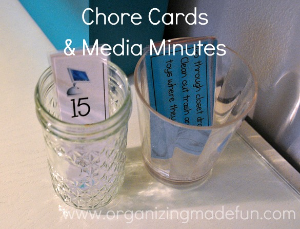 Chore cards and media minutes :: OrganizingMadeFun.com