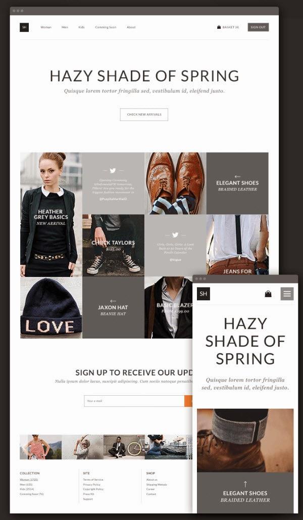 eCommerce Theme PSD