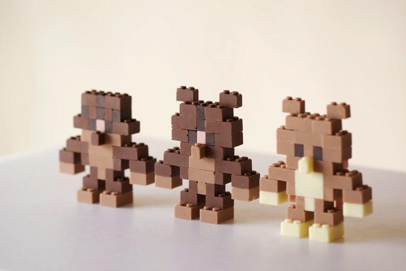 ladrillos Lego de chocolate
