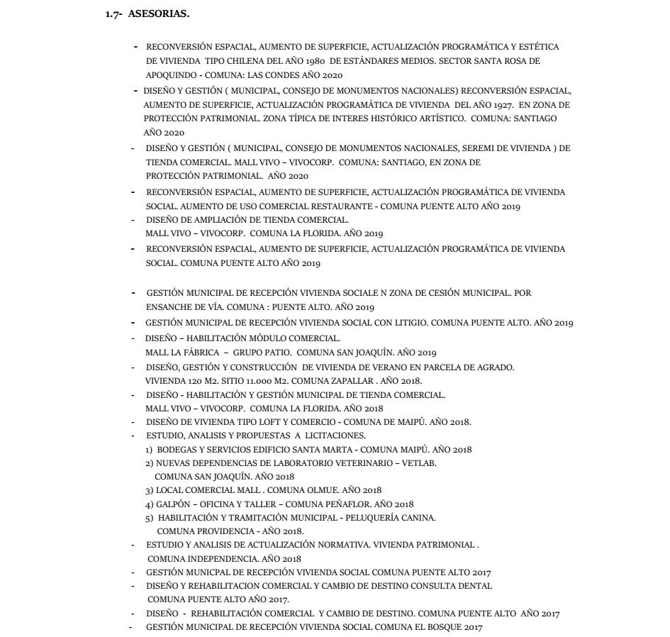 Curriculum Arquitecto Marco Muñoz Ortiz página 4 de 5