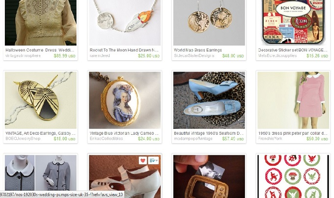 Etsy, Etsy wishlist, screenshot, collage, vintage wedding dress, bride of frankenstein, lace high neck, astronaut necklace, blast off, moon, rocket jewelry, jewellery, earth earrings, globe, world, bon voyage stickers, stationery, art deco earrings, Marie Antoinette necklace, blue slippers, shoes, jewelled, Moonrise Kingdom pink dress, Suzy Bishop, wood tv frame brooch
