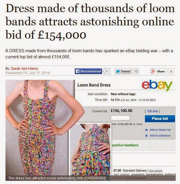 http://www.express.co.uk/news/uk/488200/Loom-band-dress-attracts-huge-online-bid
