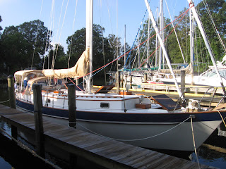 Whispering Jesse docked at Spring Cove Marina in September 2011