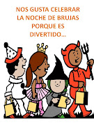 Imágenes o dibujos con mensajes de niños celebrando o festejando la noche de . ni os