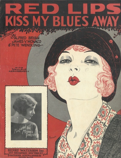 1920s Sheet Music #vintage #red #lips #1920s #music