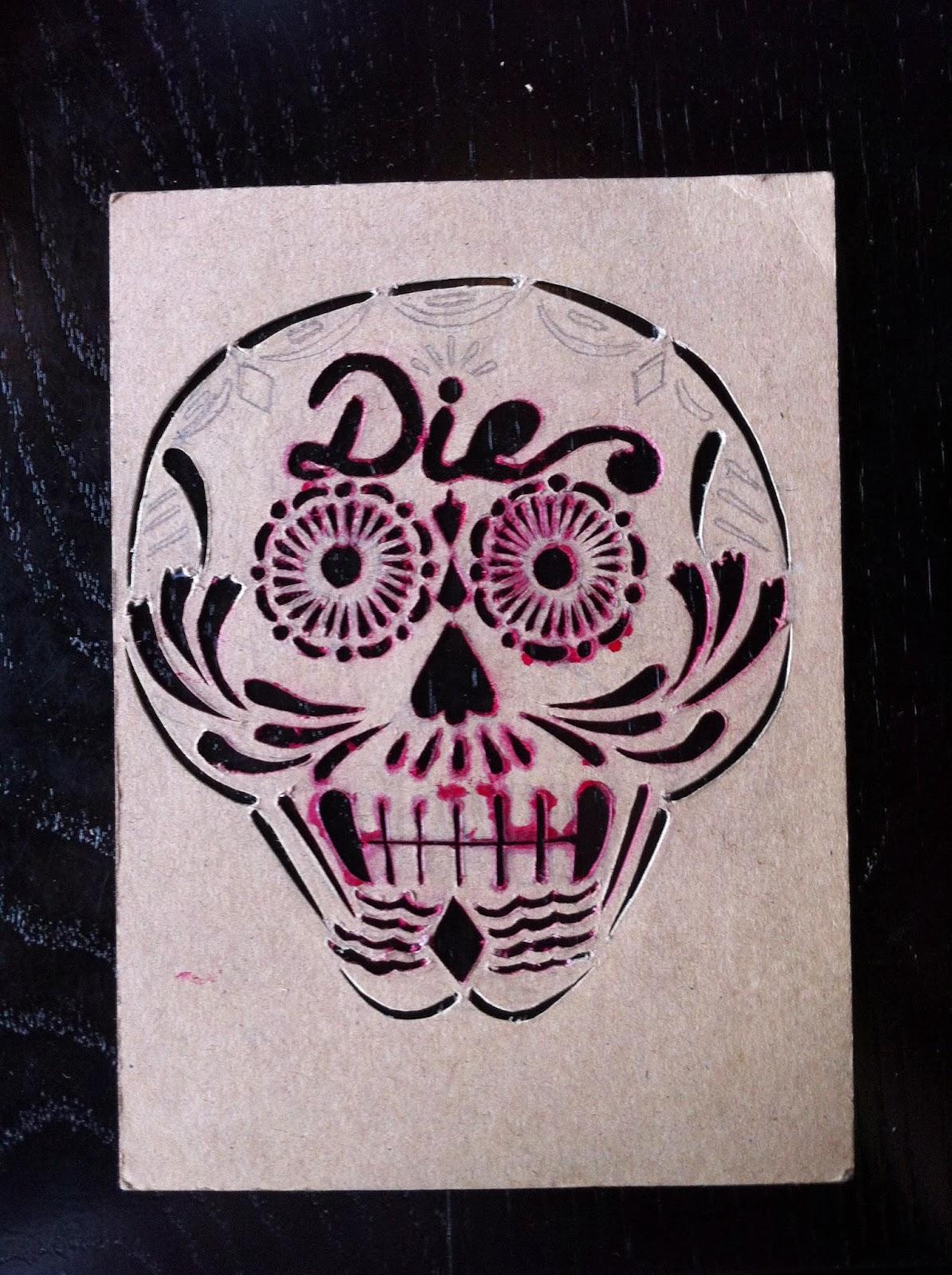 Day Of The Dead Skull Stencil Day of the dead skull stencils