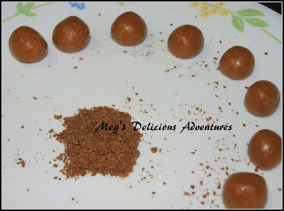 Chocolate center gulab jamun balls