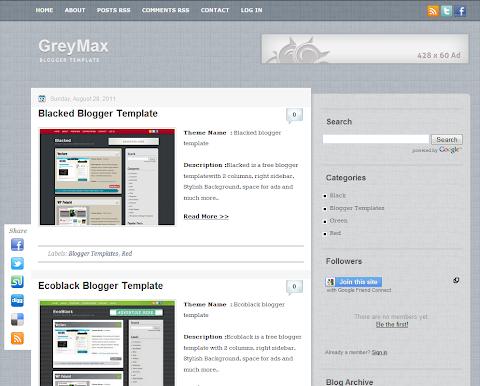 GreyMax Blogger Theme