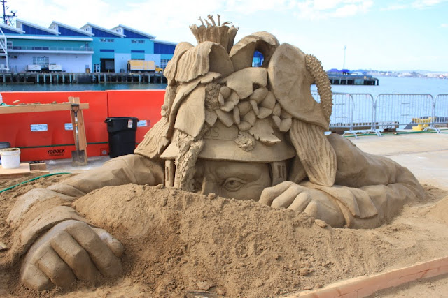 Michela Clappini's sculpture at the U.S Sand Sculpting Challenge 2012 in San Diego, California, USA