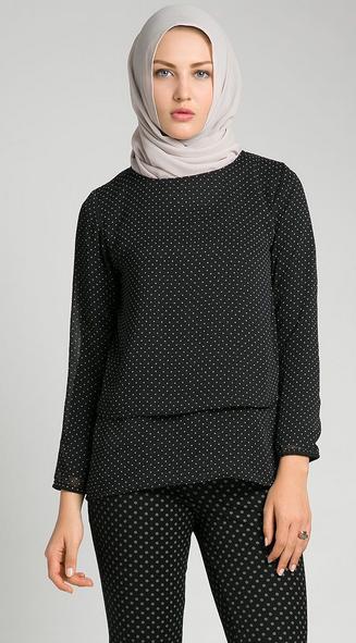 12 Foto model Baju Atasan Wanita Muslim Dewasa Terbaru 2018