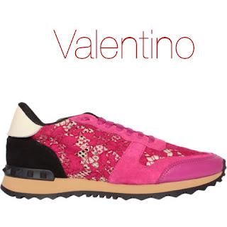 tenis renda pink valentino