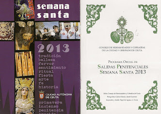 SALIDAS PENITENCIALES SEMANA SANTA CEUTA 2013