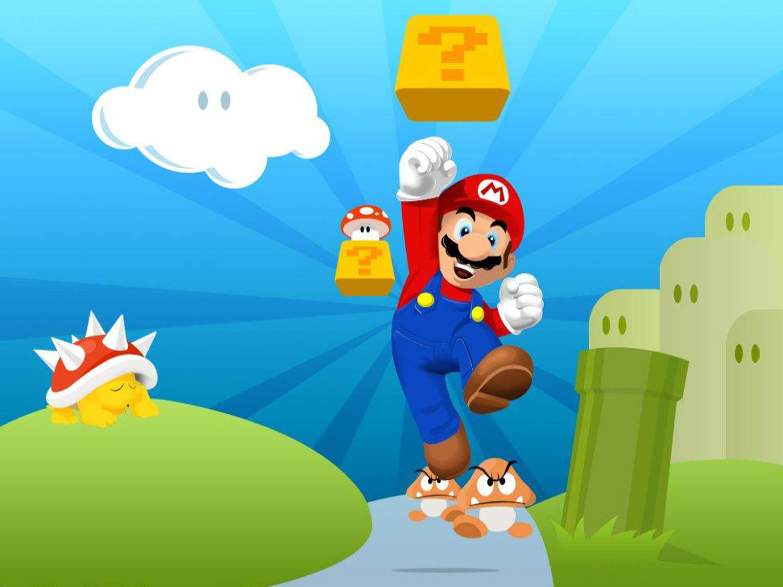 Super Mario HD & Widescreen Wallpaper 0.405576497566414