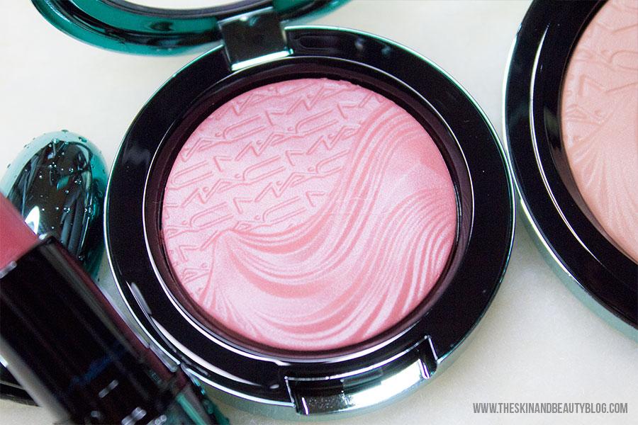 MAC Mystical Lipstick, MAC Sea Me Hear Me Blush, MAC Aphrodite's Shell Bronzer Swatches