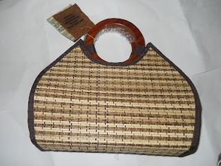 Tas Lidi Bulan Handle Bulat kecil, tas lidi, tas etnik, tas  lokal, tas bahan alam